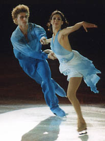 Lang and Tchernyshev ice dancers