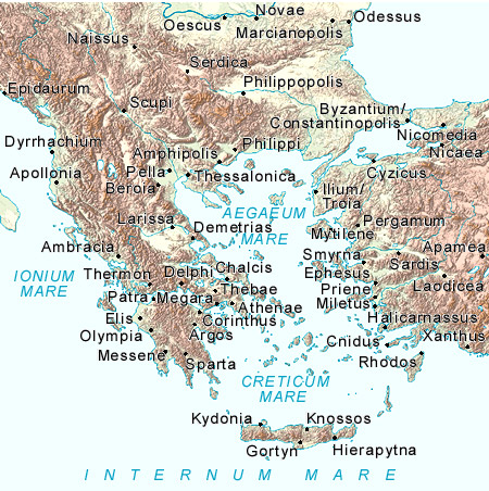 This ancient Greece map